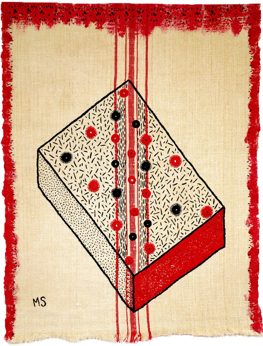 The Red and the Black 63 x 48cm (25 x 19