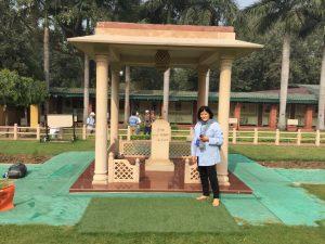 In front of Memorial to Gandhi ji